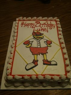Fred Bird birthday cake/i want a cake just like that but with my name on it