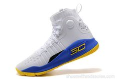 daee0df78388 Curry 4 Size US 7.5 10.5 9 Warriors Home Gold Blue