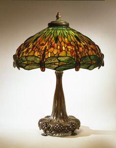 Tiffany Dragonfly Library Lamp  by Louis Comfort Tiffany (1848 – 1933)