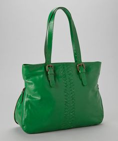 Take a look at this Green Henrietta Expandable Tote by Latico Leather on #zulily today!