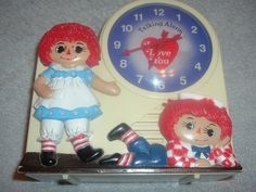 Antique,Original,Working Raggedy Ann Andy Talking Alarm Clock,Tics and Talks. #Janex #Vintage