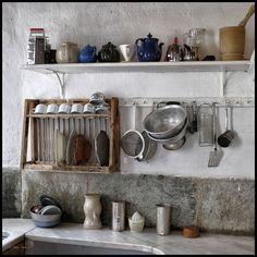 Patrick Leigh Fermor's House in Mani Patrick Leigh Fermor, Athens Restaurants, Greece House, Dario Fo, Meat Farms, Interior Decorating, Interior Design, Fruit In Season, Tidy Up