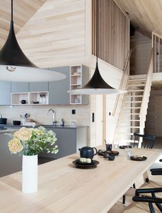 Hytte på Hafjell - Nyfelt og Strand Interiørarkitekter Cabin Homes, Log Homes, Home Interior Design, Interior Architecture, Scandinavian Cabin, Cabin Interiors, Modern Farmhouse Decor, Wooden House, Sweet Home