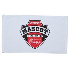 "Show off company spirit with a quality terry velour sport towel featuring a stylish diagonal twill hem.   18""W x 11""H, Mid-weight, 100% Cotton, Price includes 1 color, 1 location screen print, Embroidery available for additional charge"