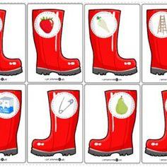 Logopedyczne gry, ćwiczenia z języka, karty do wydrukowania. - Printoteka.pl Rubber Rain Boots, Seasons, Games, Printable Tags, Speech Language Therapy, Seasons Of The Year