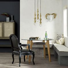 candlestick pendant light in pendant lights, wall sconces Dining Nook, Modern Dining Table, Dining Chairs, Round Dining, Room Chairs, Modern Storage Bench, Bench With Storage, Black Armchair, Bench Cushions