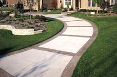 Stamped Borders, Stamped Bands Concrete Walkways Action Concrete Services Canton, MI
