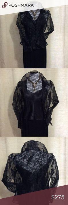 Selling this Kay Unger 3 piece silk skirt, silk tank & shirt. on Poshmark! My username is: yrpetal. #shopmycloset #poshmark #fashion #shopping #style #forsale #Kay Unger #Other