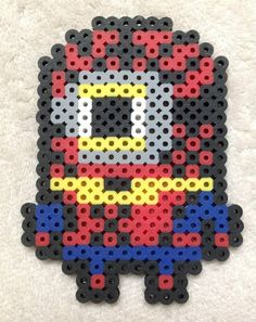 Minion Super Hero Spiderman Perler Bead Art by EightBitEvolution