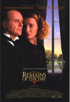 The Remains of the Day movie poster - Anthony Hopkins Emma Thompson