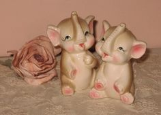 Vintage Baby Elephant Salt & Pepper Set  by Fannypippin on Etsy,