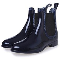 Saguaro 2019 New Rubber Boots For Women Pvc Ankle Rain Boots Waterproof Trendy Jelly Women Boot Elastic Band Rainy Shoes Woman Women's Ankle Rain Boots, Cute Rain Boots, Wellies Rain Boots, Short Rain Boots, Women's Boots, Rainy Shoes, Ladies Wellies, Rain Boots Fashion, Fashion Shoes