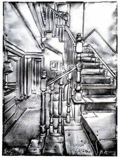 Escaleras 2. Medidas: 25 x 40 cm