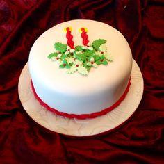 Simple Xmas Cakes, Christmas Cakes, Christmas Recipes, All Things Christmas, Christmas Holidays, Chistmas Cookies, Christmas Cake Decorations, Fondant Cakes, Cupcake Cakes