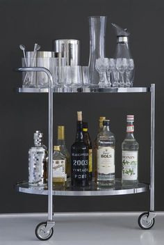 A well stocked bar is always in fashion