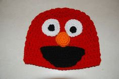 Amy's Crochet Creative Creations: Crochet Elmo Hat - free pattern