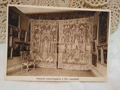 Antique, Hungarian, photo-postcard with amazing, XVI centuries Venezian lace curtain Lace Curtains, Photo Postcards, First Photo, Museum, Antiques, Amazing, Beautiful, Color, Etsy