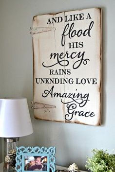 """Unending love, amazing grace"" wood sign || Aimee Weaver Designs"