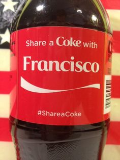 Share A Coke With Francisco Coca Cola Bottle $4.99 Shipping! FAST! #CocaCola