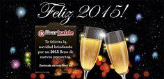 Felicitación de Navidad del año 2015. Un brindis por todos los nuevos proyectos del nuevo año.