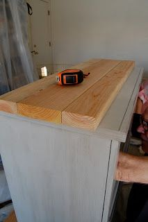 Little Yellow Barn How To Add A Rustic Top Dresser