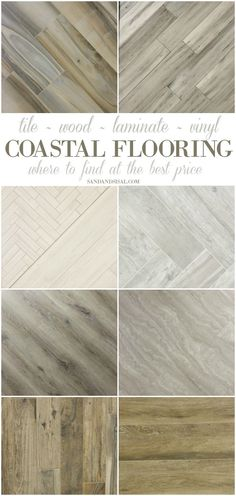 Coastal Flooring Ideas- Where to get premium tile, hardwood, laminate and luxury vinyl . I love these weathered looks! Perfect for a beach home. Can you believe some of these are actually tile?! sponsored