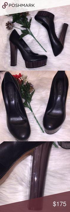 "✨Rachel Zoe✨Leila Platform SZ 7 SZ 7 Black leather Rachel Zoe round-toe platform block heels.  Heels: 5.25"" Platforms: 1.25""  No wear on heels. Beyond great condition Rachel Zoe Shoes Heels"