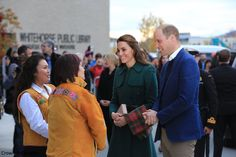 hrhduchesskate: Canada Tour, Day 4, White Horse, British Columbia, September 27, 2016-Duke and Duchess of Cambridge are welcomed by Chief Bill and Chief Kane to the Kwanlin Dun Cultural Centre