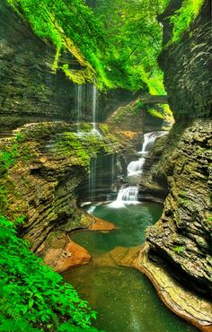 Rainbow Falls in Watkins Glen State Park, New York, USA Discover 50 Must Visit Places Around The World
