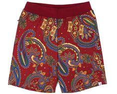 7989306301 PAISLEY SWEATSHORT - RED from Billionaires Boys Club #paisley #trending  #menswear