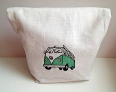 VW Campervan Fold Over Pouch by Cornlet on Etsy, $26.95