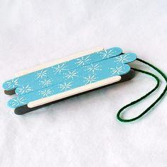 Craft Stick Sled by @amandaformaro