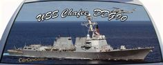 USS Chafee is DDG90 a US Navy Destroyer Ship which is available on a rear window graphic mural.