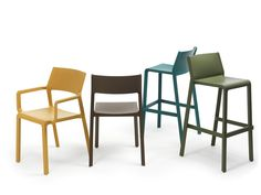 Buy online Trill stool By nardi, high stool with back with footrest design Raffaello Galiotto, trill Collection Modern Outdoor Furniture, Italian Furniture, Used Chairs, Cool Chairs, Find Furniture, Furniture Design, Furniture Chairs, Bar Restaurant, Stools With Backs