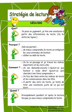Français PrimaireStratégies de lecture - Français Primaire Math Classroom Decorations, Kids Book Club, French Expressions, French Classroom, Kids Reading, Learn French, Teaching Tools, Comprehension, Blog