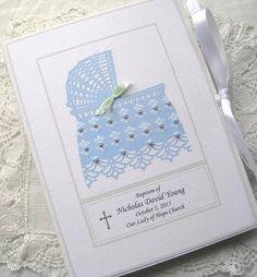Baby Photo Album Personalized Baby Boy Gift Baptism by Daisyblu