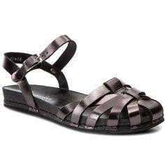 Sandály MACIEJKA - 03074-20/00-0 Czarny Metalizowany