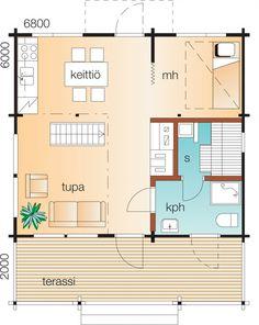 Salomaa A    Kerrosala 42,5 m²  Makuuhuoneita 1 kpl