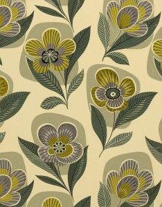 50s textile design; designer unknown. via eoh art & design