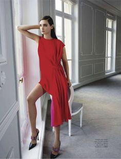 """""""El Glamour Viene de Paris"""" Carolina Thaler by Pascal Chevallier for Elle Spain February 2013"""