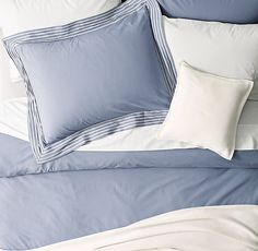 Embroidered Pleat & Vintage-Washed Percale Bedding Collection