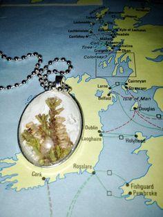 Irish Heather Pendant Necklace by joytoyou41 on Etsy, $25.00