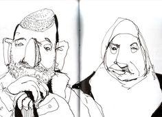 Sketch (2009) by Felix Scheinberger Artist Journal, Artist Sketchbook, Sketchbook Pages, Sketch Painting, Drawing Sketches, Drawings, Portraits, Portrait Art, Graphic Illustration