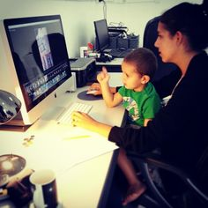©Nadi Bay Photography. Alexia and Riley busy in the office, the 2 best people in the world :) Miss you Alexia!