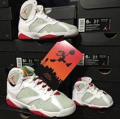 Nike Air Jordan Retro 7 HARE Bugs Toddler 1C-5Y Lola  White True Red Preschool #Jordan #Athletic