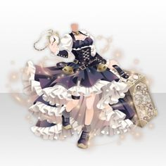 Clockwork City Cat Dress Style with Trunk ver.A navy blue Steampunk Cat, Anime Girl Dress, Cat City, Cat Dresses, Cocoppa Play, Drawing Clothes, Character Outfits, Anime Outfits, Fantasy Outfits