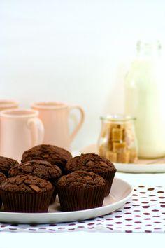 Muffins de chocolate con leche