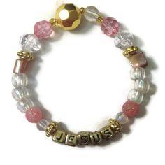 Jesus Charm Bracelet www.womenaftergodsheart.etsy.com Jewelry Bracelets
