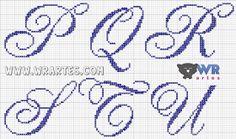 Blog do Wagner Reis: Letras REQUINTADAS MAIÚCULAS para ponto cruz