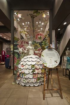 "OASIS, Argyll Street, London, UK, ""Turn The Tables"", (Inspired by iconic porcelain designs from The Museum of Royal Worcester), creative by Lucky Fox, photo by Retail Focus, pinned by Ton van der Veer"